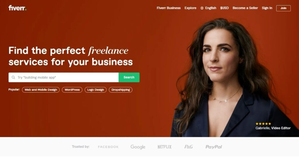fiverr - marketplace for freelancers