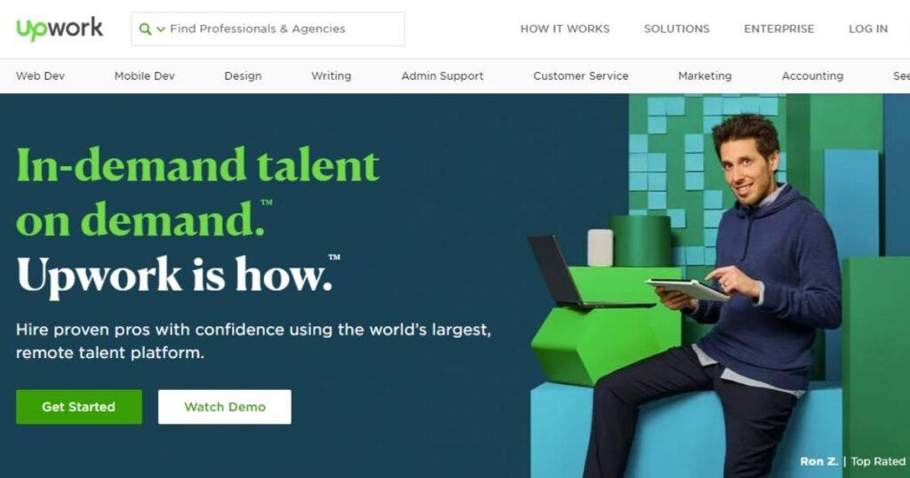 upwork - marketplace for freelancers